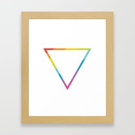 Pride: Rainbow Geometric Triangle Framed Art Print