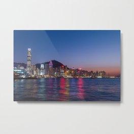 Hong Kong Central Metal Print