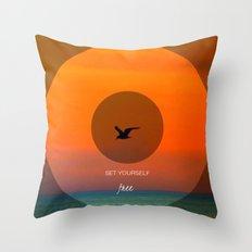 Set yourself Free Throw Pillow