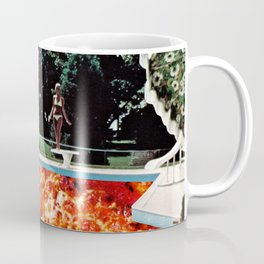 Pizza Pool Party Collage Coffee Mug