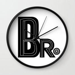 Bro - Black & White Typography Wall Clock