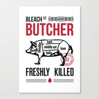 butcher billy Canvas Prints featuring Butcher by rodehed