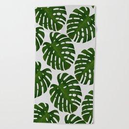 Monstera Leaf II Beach Towel