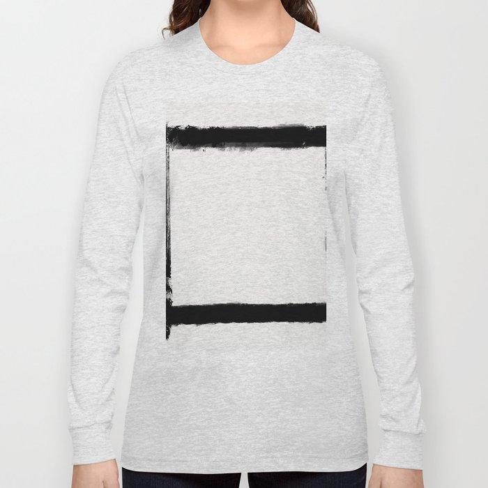 Square Strokes Black on White Long Sleeve T-shirt