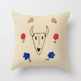 Skull Friend Throw Pillow