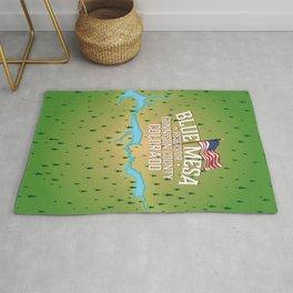 Blue Mesa Reservoir map travel poster. Rug