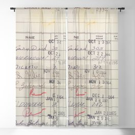 Library Card 23322 Sheer Curtain