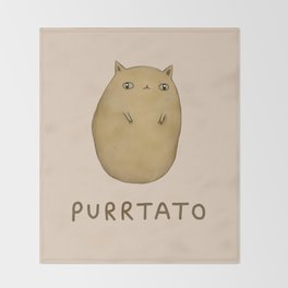 Purrtato Throw Blanket