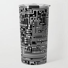 Circuit Board on Black Travel Mug