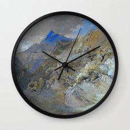 Mount Siabod From Tyn-y-coed Near Capel Curig - Digital Remastered Edition Wall Clock