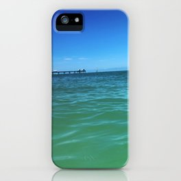 Blue Sky at Clearwater Dock iPhone Case