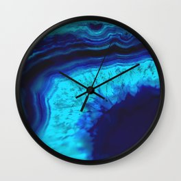 Royal Blue Turquoise Agate Wall Clock