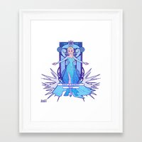 elsa Framed Art Prints featuring Elsa by NicoleGrahamART