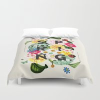 spring Duvet Covers featuring SPRING by Dawn Gardner