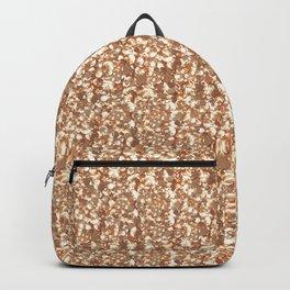 Golden confetti glitter sparkl Backpack