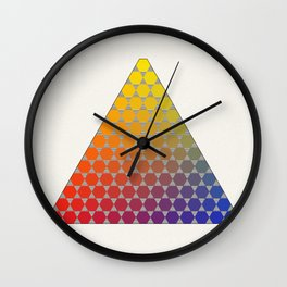 Lichtenberg-Mayer Colour Triangle recoloured remake, based on Mayer's original idea and illustration Wall Clock