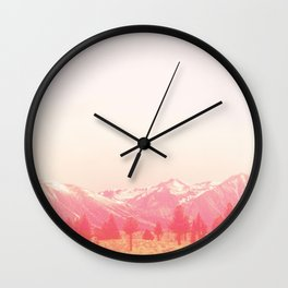 Mammoth in Pink Wall Clock