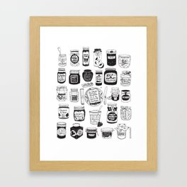 Jams and Chutneys Illustrated Alphabet Framed Art Print