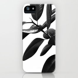 Ficus Elastica Black & White Vibes #1 #foliage #decor #art #society6 iPhone Case