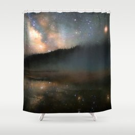 Milky Way Over Yellowstone Shower Curtain