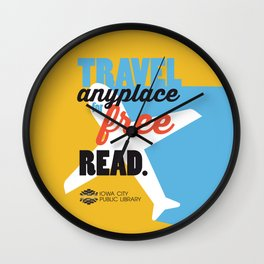 Travel - Iowa City Public Library Wall Clock