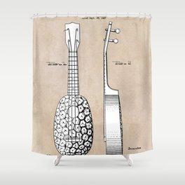 patent art Kamaka Ukulele 1927 Shower Curtain