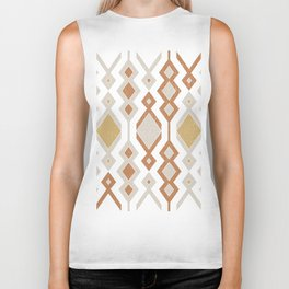Tribal shapes 1.0 - Autumn colors Biker Tank