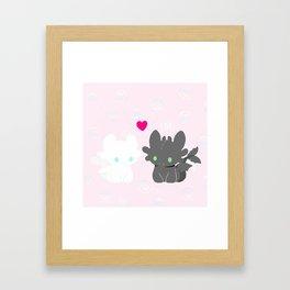 Light Fury & Night Fury LOVE Framed Art Print