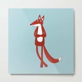 Sarcastic Fox Metal Print