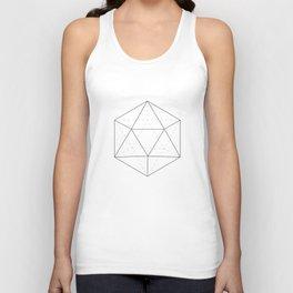 Black & white Icosahedron Unisex Tank Top