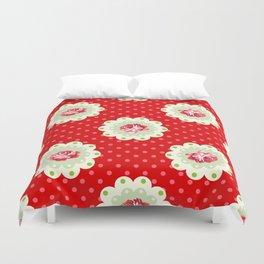 Shabby Chic Rose Pattern Duvet Cover