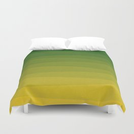 Shades of Grass - Line Gradient Pattern between Lime Green and Bright Yellow Duvet Cover