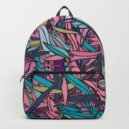Fallen Eucalyptus Leaves - Teal and Pink Palette Backpack