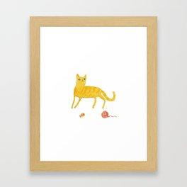 Nice Ginger Cat Framed Art Print