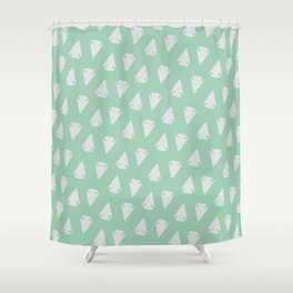 Arrow heads - Mint Green / Hemlock Shower Curtain