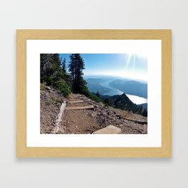 Above Lake Cushman Framed Art Print