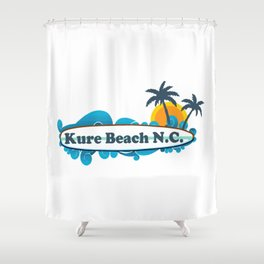 Kure Beach - North Carolina. Shower Curtain
