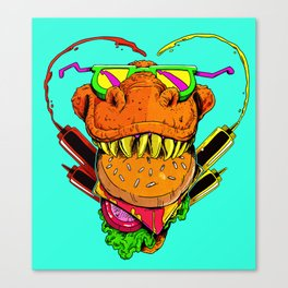 Food Face Canvas Print