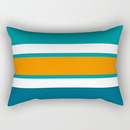 TEAM COLORS 2...TEAL,DK.TEAL, ORANGE ,WHITE Rectangular Pillow