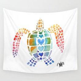 Hug a Sea Turtle Wall Tapestry