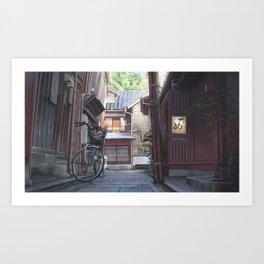A street in Kanazawa Art Print