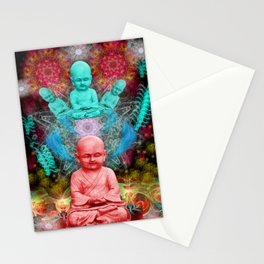 Young Meditator (psychedelic, visionary) Stationery Cards