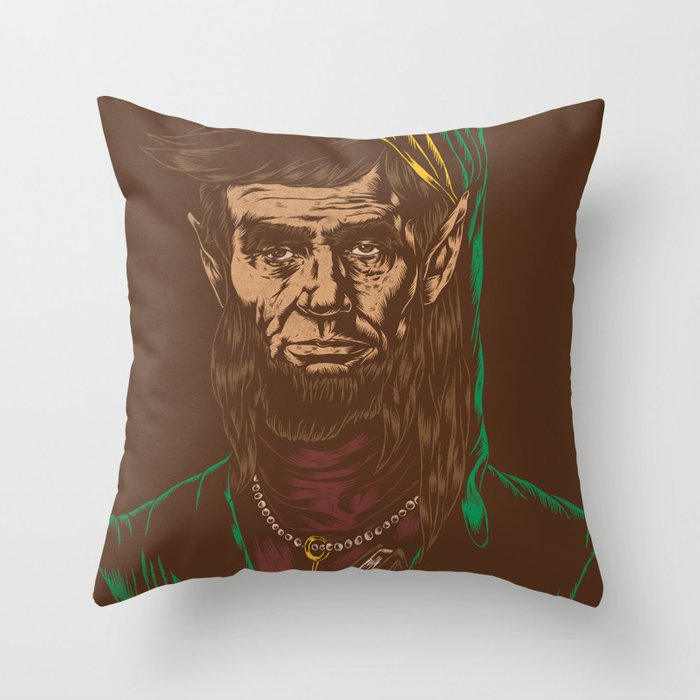 Abraham LINKoln Throw Pillow