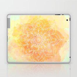 Watercolor Mandala // Sunny Floral Mandala Laptop & iPad Skin