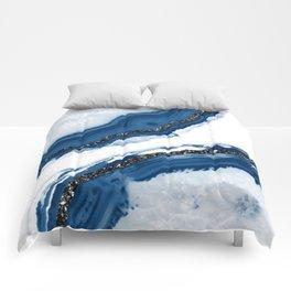 Agate Glitter Glam #14 #gem #decor #art #society6 Comforters