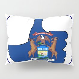 Thumbs Up Michigan Pillow Sham