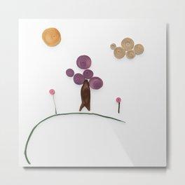 Springtime Scene Paper Quilling | Veronica Nagorny Metal Print