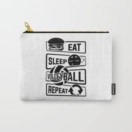 Eat Sleep Volleyball Repeat - Ball Sports Team Carry-All Pouch