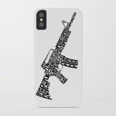 Pew Pew AR-15 iPhone X Slim Case