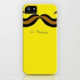 Monsieur Mustard Moustache iPhone Case